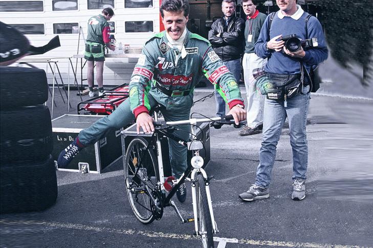 Schumacher'in katlanan bisikleti olabilir, belki de değildir kim bilir?