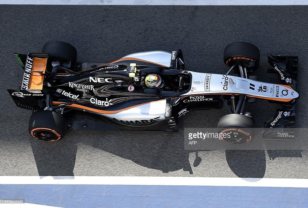 Force India 2015 grid'in en keş takımı olsa gerek. Smirnoff harici hepsi Vijay Mallya'nın sahip olduğu markalar.