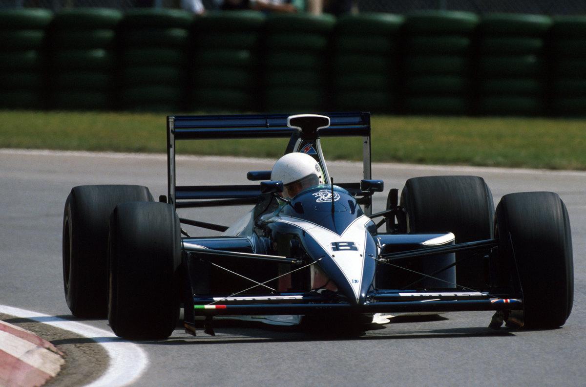 Stefano Modena (ITA) Brabham Judd BT59, 7th place Canadian Grand Prix, Montreal, 10 June 1990